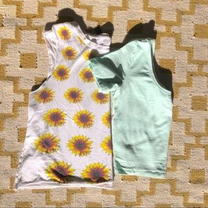 URBAN OUTFITTERS • summer crop tops • bundle of 2